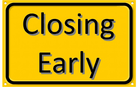 Shire Office Closing Early
